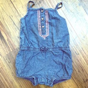 Girls jean Romper